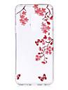 Capinha Para Samsung Galaxy S9 S9 Plus IMD Estampada corpo transparente Capa traseira Flor Macia TPU para S9 Plus S9 S8 Plus S8 S7 edge