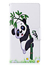 Кейс для Назначение Sony Xperia L2 Xperia XA2 Ultra Бумажник для карт Кошелек со стендом Флип С узором Чехол Панда Твердый Кожа PU для
