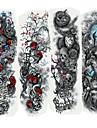 4 pcs Tetovací nálepky dočasné tetování Cartoon Series Tělesné Arts paže