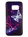 Coque Pour Samsung Galaxy S8 / S7 Motif Coque Papillon Flexible TPU pour S8 / S7 edge / S7