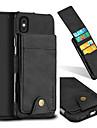 Pouzdro Uyumluluk Apple iPhone X / iPhone 8 Kart Tutucu / Şoka Dayanıklı Arka Kapak Solid Sert Tekstil için iPhone X / iPhone 8 Plus / iPhone 8