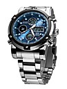 ASJ Dress Watch Emitters Water Resistant / Water Proof, Alarm, Calendar / date / day White / Black / Blue / Two Years / Japanese / Chronograph / Noctilucent / Japanese