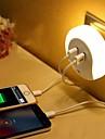 LED Night Light Warm White Smart Dual USB Phone Charger Light Control 110-120V 220-240V