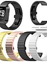 시계 밴드 용 Fitbit Versa 핏빗 나비 버클 스테인레스 스틸 손목 스트랩