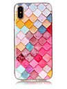 Capinha Para Apple iPhone X iPhone 8 Ultra-Fina Capa traseira Estampa Geometrica Macia TPU para iPhone X iPhone 8 Plus iPhone 8 iPhone 7
