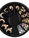 1 pcs Tırnak Takısı Özel Tasarım tırnak sanatı Manikür pedikür Günlük / Sade madeni / Yapay elmas / Nail Jewelry