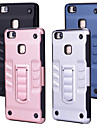 Case For Huawei P9 Lite Shockproof with Stand Back Cover Solid Colored Hard PC for Huawei P9 Lite