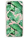 Кейс для Назначение Apple iPhone X / iPhone 8 С узором Кейс на заднюю панель Растения Мягкий ТПУ для iPhone X / iPhone 8 Pluss / iPhone 8