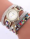 Women\'s Quartz Bracelet Watch Chinese Casual Watch PU Band Casual Minimalist Black White Blue Red Brown Green