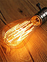 1pc 40W E26/E27 ST64 Blanc Chaud 2200-2700k K Retro Intensite Reglable Decorative Ampoule incandescente Edison Vintage 220-240V