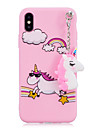 Case For Apple iPhone X / iPhone 8 Shockproof / Pattern / DIY Back Cover Unicorn Soft TPU for iPhone X / iPhone 8 Plus / iPhone 8