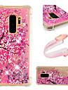 Coque Pour Samsung Galaxy S9 / S9 Plus Antichoc / Liquide / Motif Coque Fleur / Brillant Flexible TPU pour S9 Plus / S9 / S8 Plus