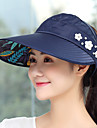 Cap Summer Portable folding / UV resistant / Breathability Hiking / Outdoor Exercise / Traveling Women\'s Polyester / Cotton Solid Colored