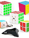 9 יחידות קוביית קסם קיוב IQ QIYI QIYI-A Pyramorphix Alien Mini 2*2*2 3*3*3 4*4*4 קיוב מהיר חלקות קוביות קסמים קוביית פאזל מדבקה חלקה רמה מקצועית של משחקים נוער מבוגרים צעצועים כל בנים בנות מתנות