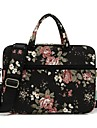 "13"" Laptop / 14"" Laptop / 15"" Laptop Shoulder Messenger Bag / Briefcase Handbags Canvas Floral Print for Women"