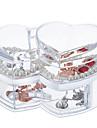 пластик Круглый Новый дизайн Главная организация, 1шт Ящики / Хранение косметики / Органайзеры для стола