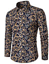 Camicia - Taglie forti Per uomo Lavoro A pois Cotone / Manica lunga