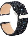 Ремешок для часов для Fitbit Versa Fitbit Современная застежка / Дизайн украшения Кожа Повязка на запястье