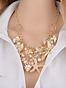Női Többrétegű Nyaklánc medálok Gyöngyutánzat Kagyló Tengeri csillag Kagyló hölgyek Klasszikus Arany 46+5 cm Nyakláncok Ékszerek 1db Kompatibilitás Bikini