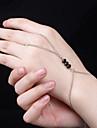 Női Kristály Gyűrű karkötők - hölgyek, Egyszerű, Vintage, Divat, Elegáns Karkötők Ékszerek Fekete Kompatibilitás Parti Születésnap