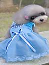 Câini / Pisici / Animale Mici Rochii Îmbrăcăminte Câini Inimă / Prințesă Albastru / Roz Bumbac Jacquard / Bumbac Costume Pentru animale de companie Femeie Sport & Outdoor / Rochii & Fuste