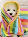 Portable / Mini / Keep Warm Dog Clothes Bed / Towel Color Block / Patchwork Rainbow Rodents / Dogs / Cats