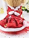 Rongeurs / Chiens / Chats Robe Vetements pour Chien Couleur Pleine Rouge Soie Costume Pour les animaux domestiques Femme Sports & Activites d\'Exterieur / Nouvel An