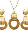 Жен. Комплект ювелирных изделий - Дамы, Богемные, Мода Включают Серьги-кольца Ожерелья с подвесками Золотой Назначение Для вечеринок Подарок