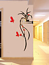 Ozdobné samolepky na zeď - 3D samolepky na zeď Romantika / Botanický motiv / Květinový / Botanický motiv Obývací pokoj / Chlapecký pokoj / Chodba