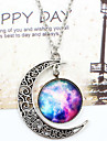 Women\'s Pendant Necklace - Moon, Galaxy Unique Design, European, Fashion White / Blue, Silver-Blue, Purple / Blue Necklace For Wedding, Party, Special Occasion