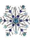 Women\'s Stylish Brooches - Snowflake Stylish, Classic Brooch White / Blue For Daily / Festival