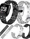Watch Band for Fitbit Versa Fitbit Sport Band Stainless Steel Wrist Strap
