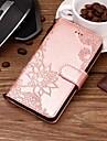 Etui Til Samsung Galaxy S9 Plus / S9 Lommebok / Kortholder / med stativ Heldekkende etui Blomsternaal i krystall Hard PU Leather til S9 / S9 Plus / S8 Plus