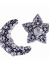 בגדי ריקוד נשים לא תואם עגילים צמודים אבן נוצצת עגילים MOON כוכב נשים מסוגנן קלסי תכשיטים כסף עבור יומי זוג 1