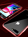 Etui Til Apple iPhone X / iPhone XS Max Transparent Fuldt etui Ensfarvet Hårdt Tempereret glas / Metal for iPhone XS / iPhone XR / iPhone XS Max