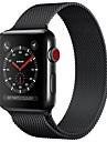 스테인레스 스틸 시계 밴드 견장 용 Apple Watch Series 3 / 2 / 1 블랙 / 블루 / 실버 23cm / 9 인치 2.1cm / 0.83 인치