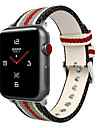 Watch Band for Apple Watch Series 4/3/2/1 Apple Leather Loop Nylon / Genuine Leather Wrist Strap