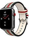 Bracelet de Montre  pour Apple Watch Series 4/3/2/1 Apple Bracelet en Cuir Nylon / Vrai Cuir Sangle de Poignet
