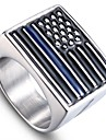 남성용 스타일리쉬 장식품 새해 맞이 - 스테인레스 국기 세련, 단순한, 유니크 디자인 9 / 10 / 11 / 12 실버 제품 일상 거리
