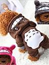 Cachorros Roupa / pot Filler Roupas para Caes Solido / Desenho Animado Cinzento / Fucsia / Cafe Felpudo Ocasioes Especiais Para animais de estimacao Unisexo Mantenha Quente / Lazer