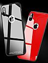 Etui Til Apple iPhone X / iPhone 8 Stødsikker / Spejl Bagcover Ensfarvet Hårdt Tempereret glas for iPhone X / iPhone 8 Plus / iPhone 8