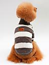 Honden / Katten Sweatshirt Hondenkleding Gestreept Blauw / Roze / Zwart 100% coral fleece Kostuum Voor huisdieren Unisex Sport & Buiten / Casual / Dagelijks