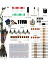 Basic Starter Kit / Breadboard Jumper wires Color Led Resistors Buzzer For Arduino UNO R3 Mega2560 Mega328 Nano
