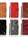 غطاء من أجل LG K10 (2017) / G7 محفظة / حامل البطاقات / مع حامل غطاء كامل للجسم لون سادة قاسي جلد PU إلى LG K10 2018 / LG K10 (2017) / LG K10