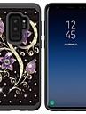 Etui Käyttötarkoitus Samsung Galaxy S9 Plus / S8 Plus Iskunkestävä / Paljetti / Kuvio Takakuori Tekojalokivi / Kukka Kova PC varten S9 / S9 Plus / S8 Plus