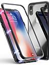 Cooho Case Kompatibilitás Apple iPhone X / iPhone 7 Plus Ütésálló / Porálló / Átlátszó Fekete tok Egyszínű Kemény Hőkezelt üveg / PC mert iPhone X / iPhone 8 Plus / iPhone 8