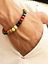 Men\'s Beads Strand Bracelet - Wooden Stylish, Simple, Casual / Sporty Bracelet Jewelry Rainbow For Daily Street Going out
