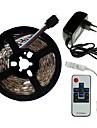SENCART 5m مجموعات ضوء 300/150 المصابيح SMD5050 1 × 2A محول الطاقة / 1 10Keys المراقب البعيد RGB قابل للقص / ديكور / قابلة للربط 100-240 V 1SET