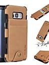 מגן עבור Samsung Galaxy S8 Plus / S8 ארנק / מחזיק כרטיסים / עמיד בזעזועים כיסוי אחורי אחיד רך עור PU ל S8 Plus / S8