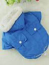 Psi Kočky Kabáty Oblečení pro psy Jednobarevné Zelená Modrá Růžová Bavlna Kostým Pro Zima Unisex Běžné / Denní Módní